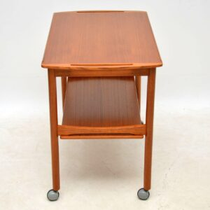 danish teak retro vintage drinks trolley bar cart