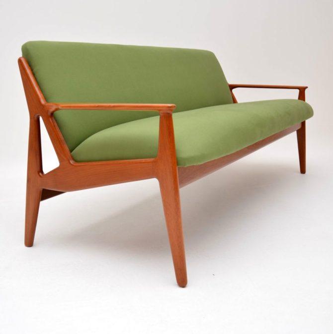 danish teak retro vintage sofa by arne vodder