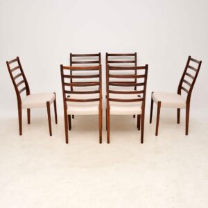 danish swedish vintage retro rosewood dining chairs