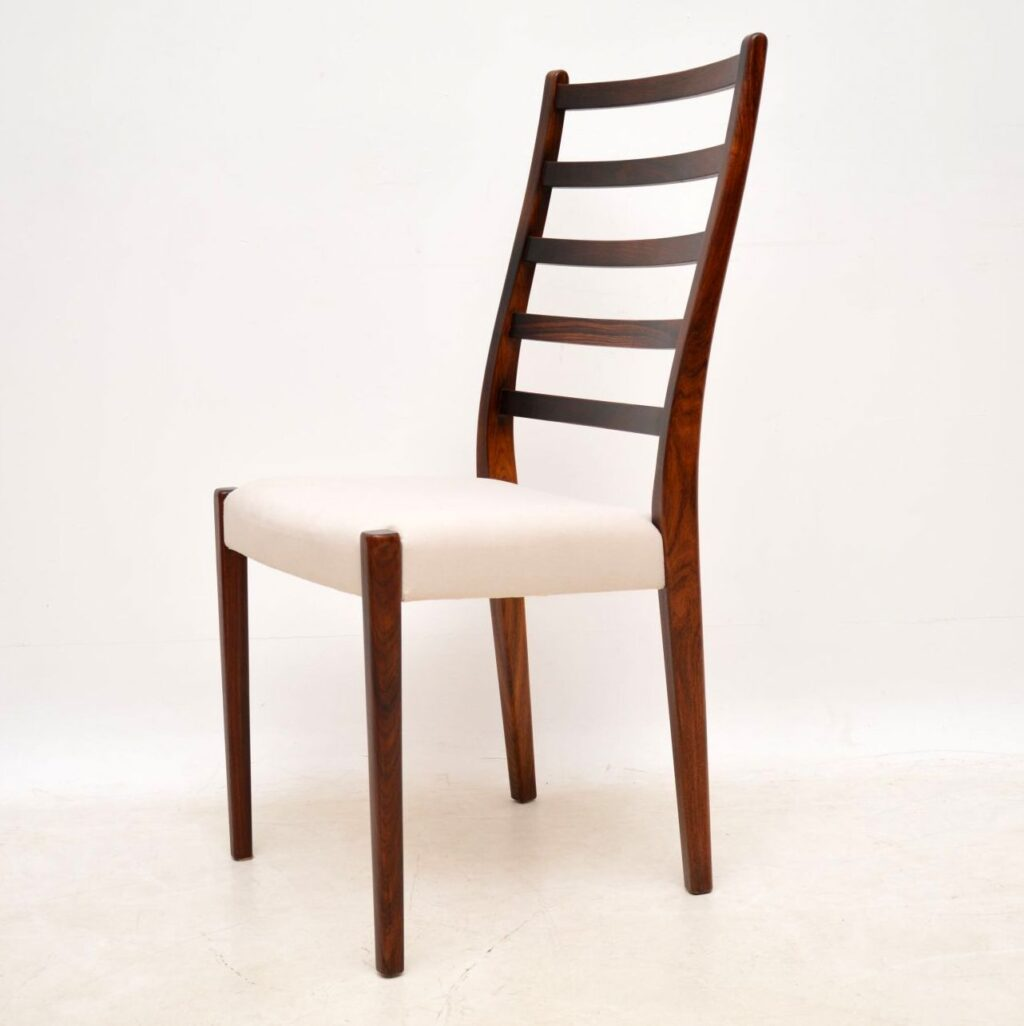 danish swedish vintage retro rosewood dining chairs