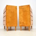 1960's Pair of Satin Wood Chest of Drawers