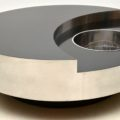 1970's Vintage Italian Yin Yang Coffee Table by Willy Rizzo