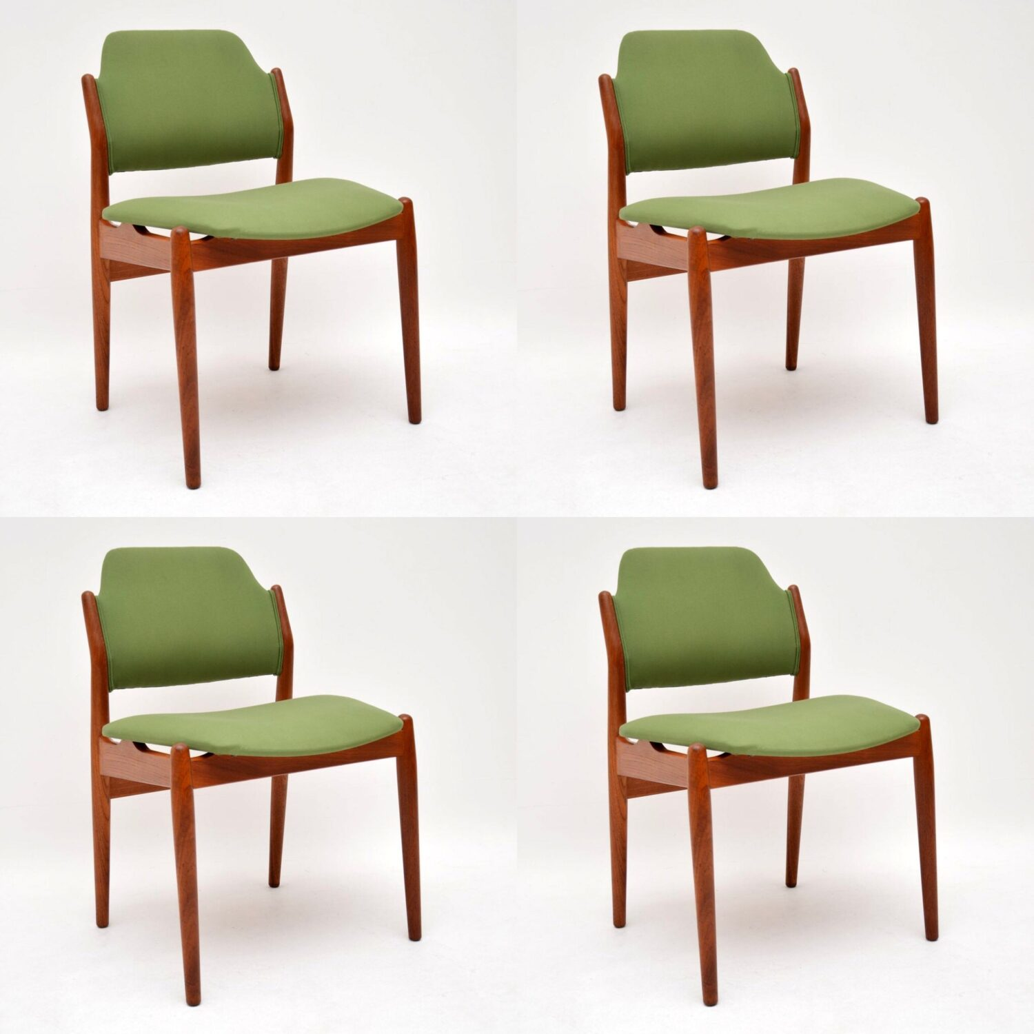 danish teak retro vintage dining chairs by arne vodder sibast
