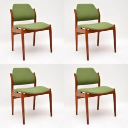 1960's Set of 4 Danish Teak Dining Chairs by Arne Vodder