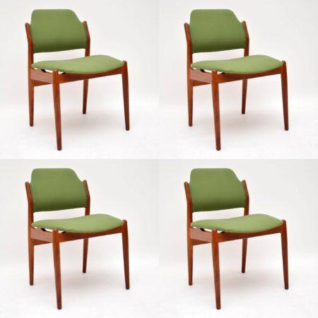 1960's Set of 4 Danish Teak Dining Chairs by Arne Vodder