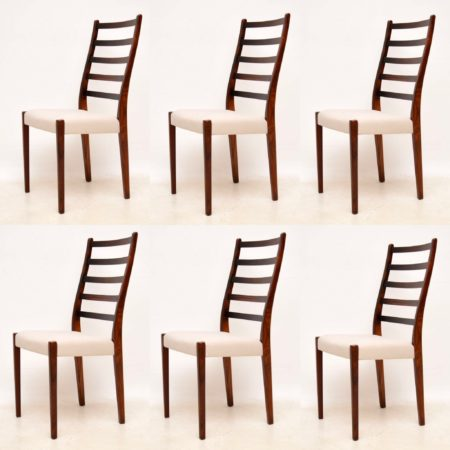 1960's Set of 6 Swedish Rosewood Dining Chairs by Svegards Markaryd