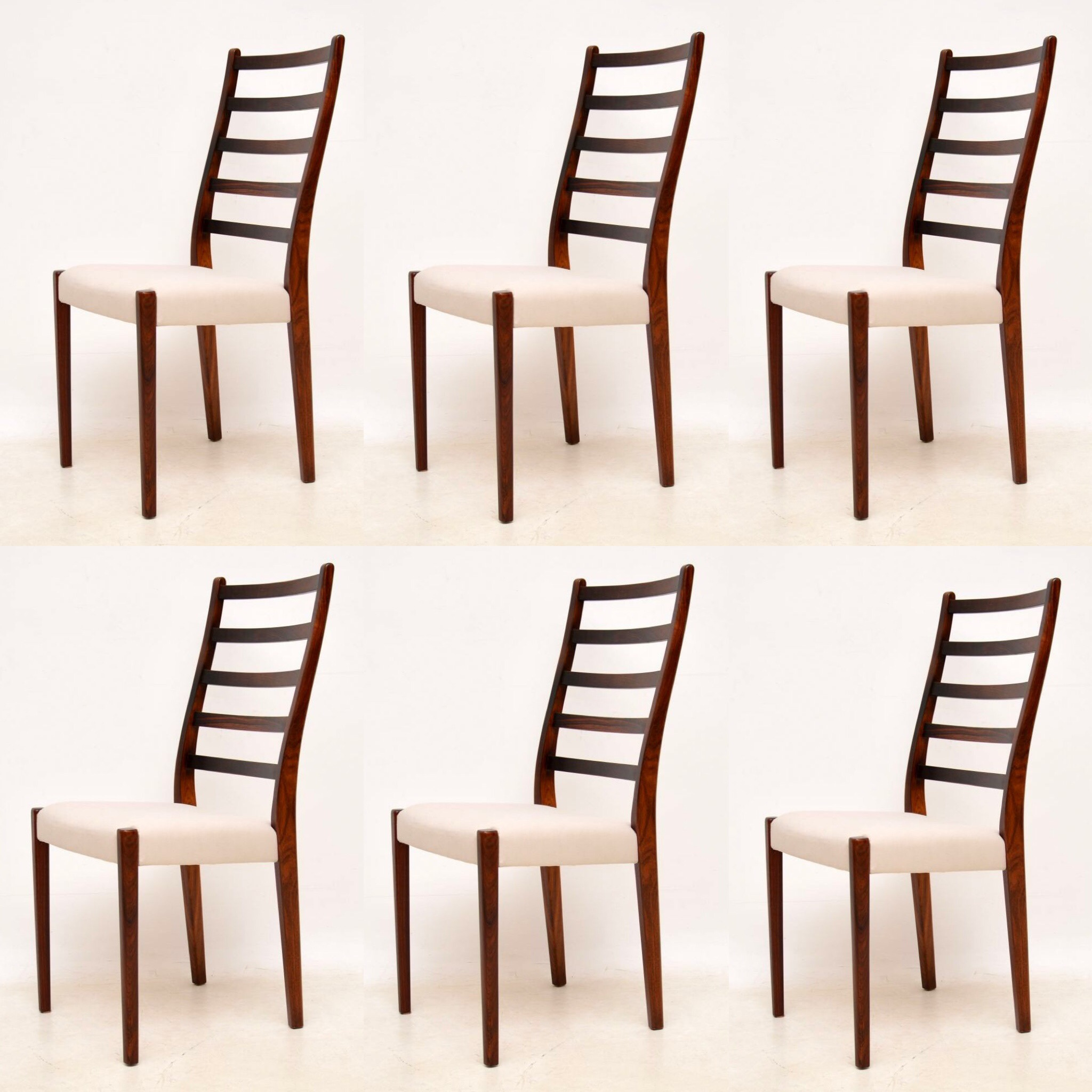 1960 S Set Of 6 Swedish Rosewood Dining Chairs By Svegards Markaryd