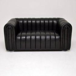 josef hoffman club 1910 vintage retro leather sofa