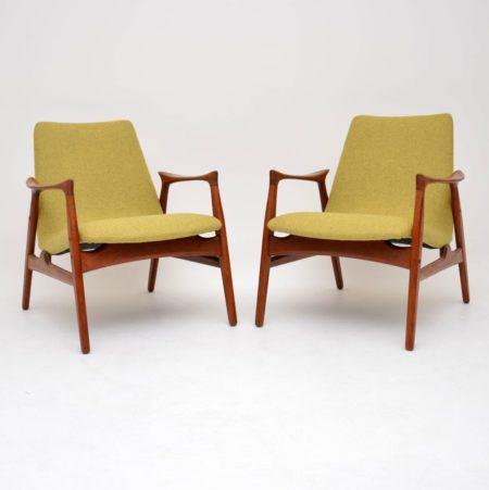 Pair of Danish Teak Armchairs by Arne Hovmand-Olsen for Mogens Kold