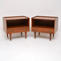 1960's Pair of Vintage Afromosia Bedside Cabinets