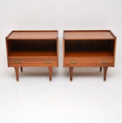 retro vintage midcentury afromosia g plan danish bedside cabinets