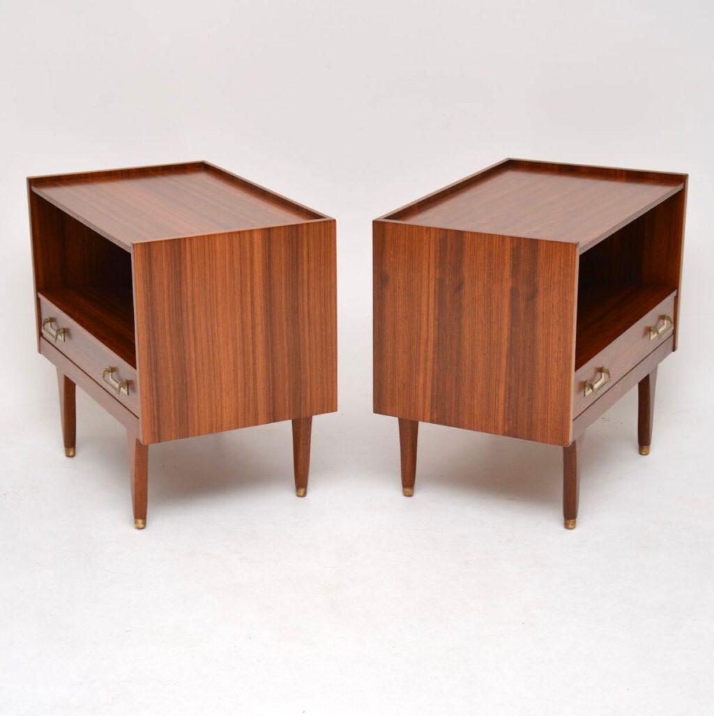 retro vintage midcentury afromosia g plan danish bedside cabinets