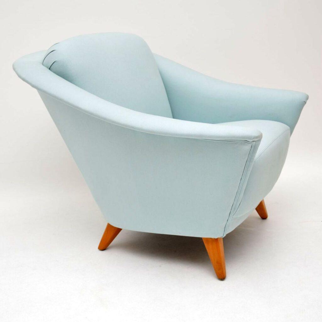 pair of vintage retro swedish armchairs