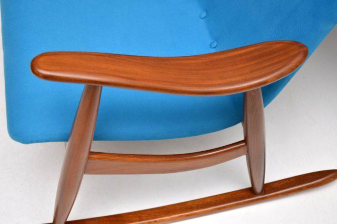 pair of danish dutch vintage retro rocking chairs armchairs louis van teeffelen