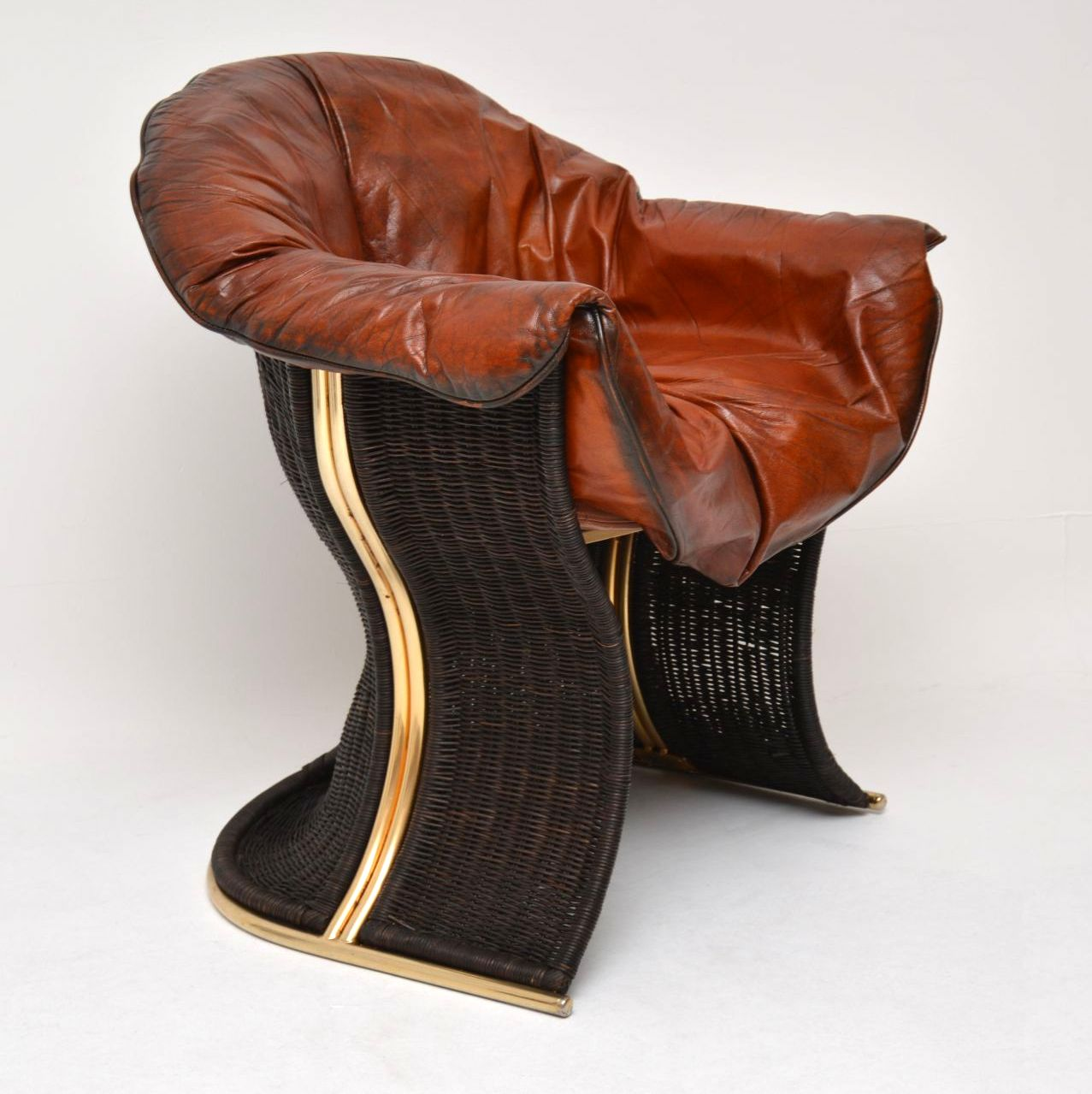 vintage retro leather venus armchair chair by pieff
