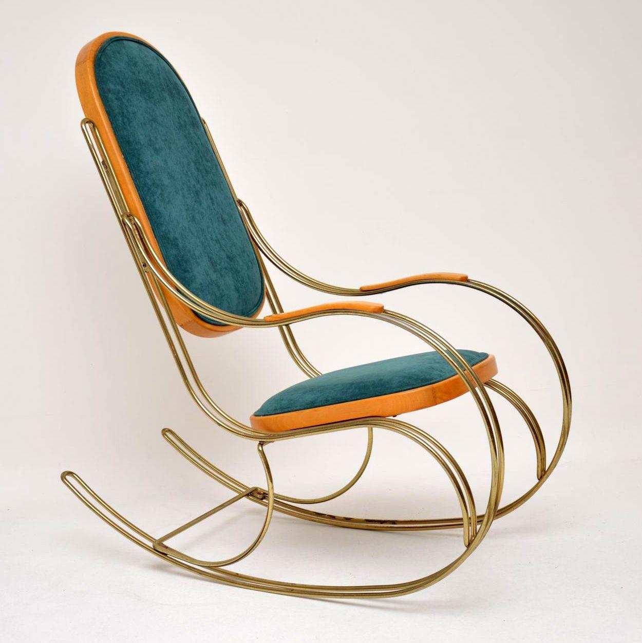 retro vintage brass thonet armchair