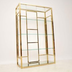 1970's Vintage Italian Brass Display Cabinet