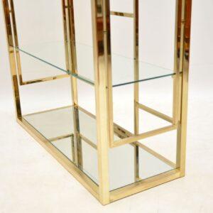 retro vintage brass display cabinet bookcase