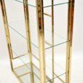 1970's Vintage Italian Brass Display Cabinet