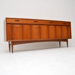 danish retro vintage rosewood walnut sideboard