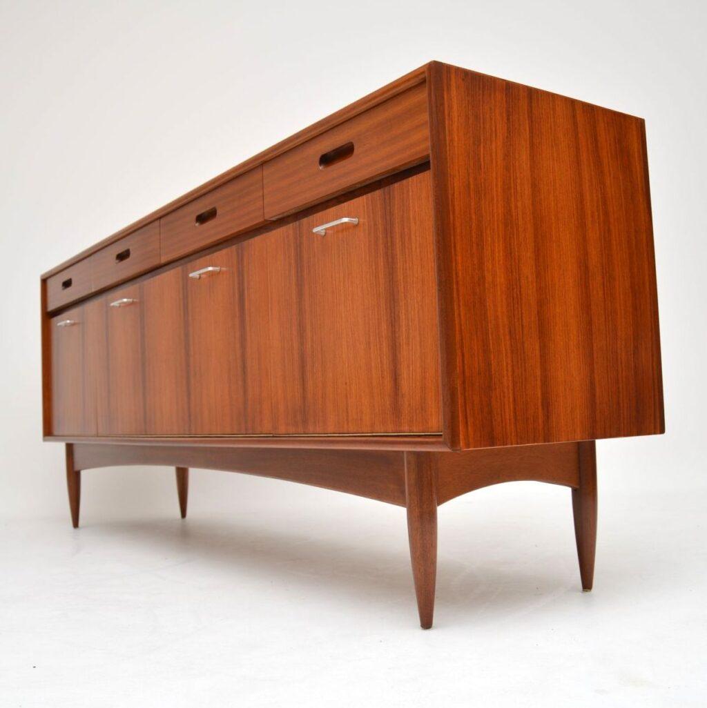 danish retro vintage rosewood walnut sideboard