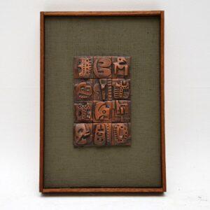 ron hotchins original ceramic tile relief