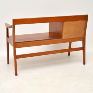 1960's Teak Vintage Telephone Bench / Side Table