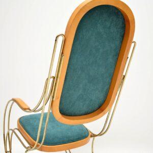 vintage retro italian brass rocking chair