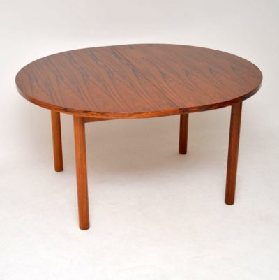 danish rosewood retro vintage dining table robert heritage archie shine