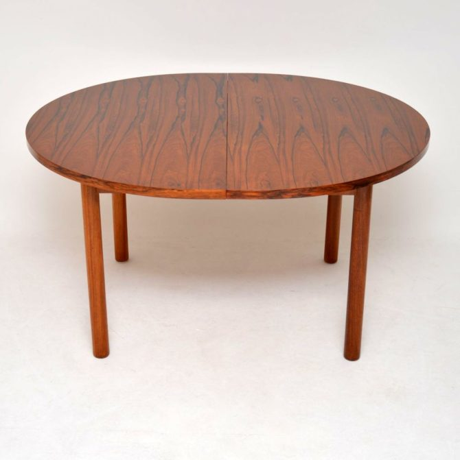 danish rosewood retro vintage dining table robert heritage archie shine