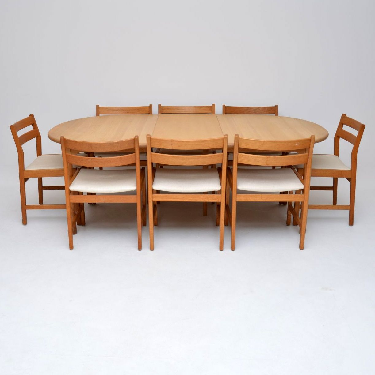 Danish Retro Oak Dining Table Amp Eight Dining Chairs
