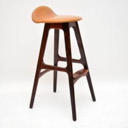 Danish Rosewood Vintage Bar Stool by Erik Buch