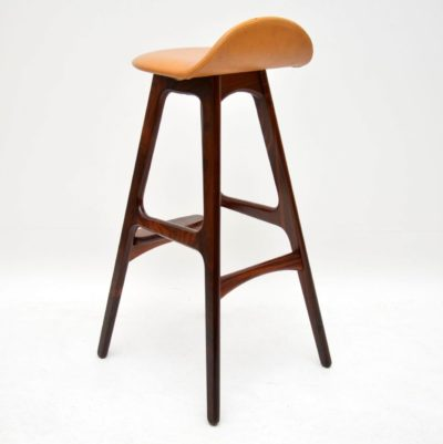 danish retro vintage rosewood bar stool erik buch