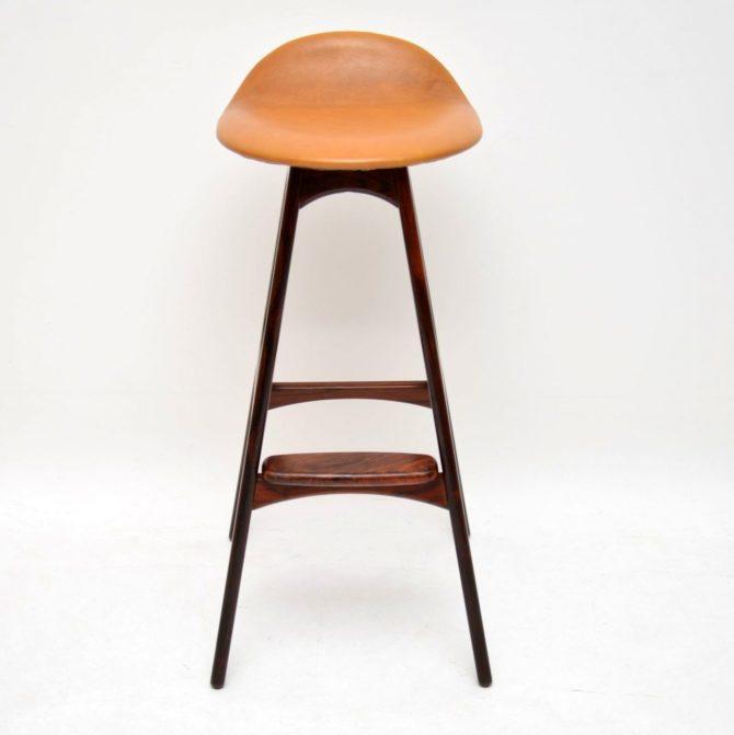 danish retro vintage rosewood bar stool erik buch