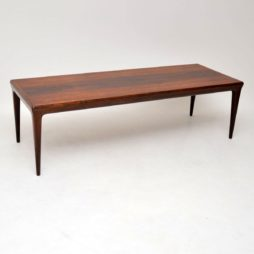 danish rosewood vintage retro coffee table johannes andersen
