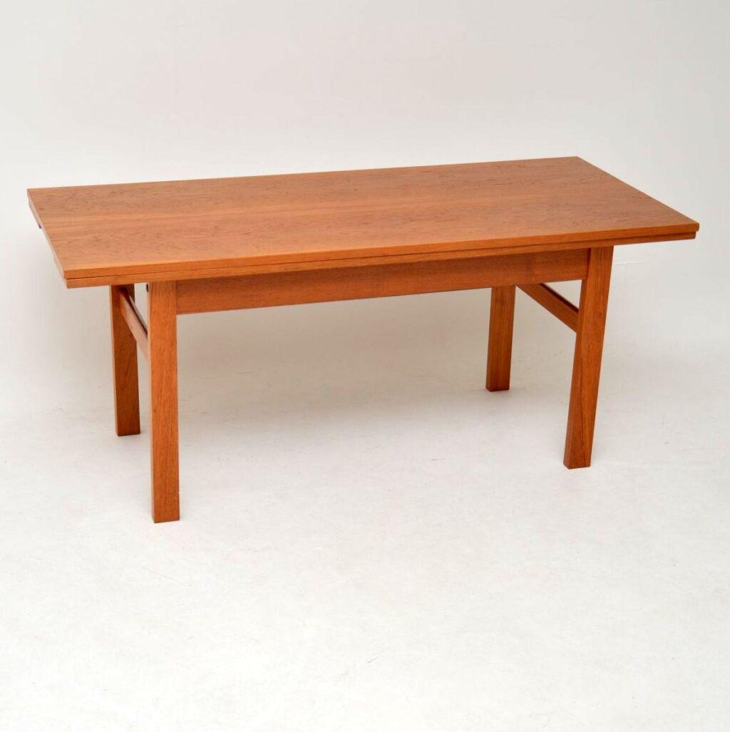 danish teak retro vintage coffee dining table