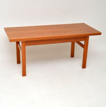 1960's Danish Teak Convertible Dining / Coffee Table