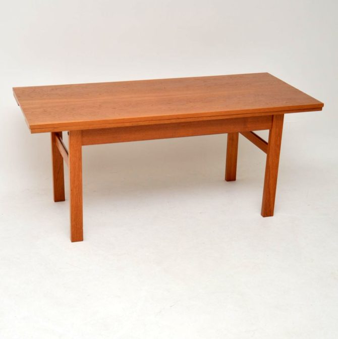danish teak retro vintage coffee dining table