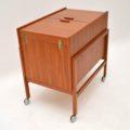 1960's Danish Teak Bar Cart Drinks Trolley by Andreas Hansen