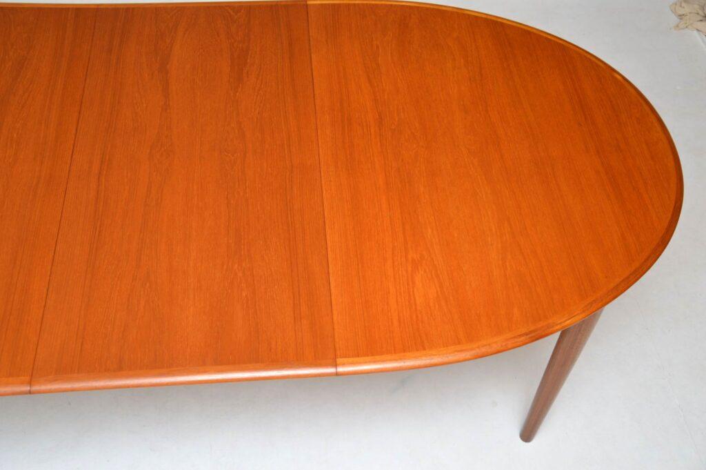danish teak retro vintage extending dining table