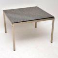 Pair of Steel & Granite Side Tables in the Manner of Poul Kjaerholm