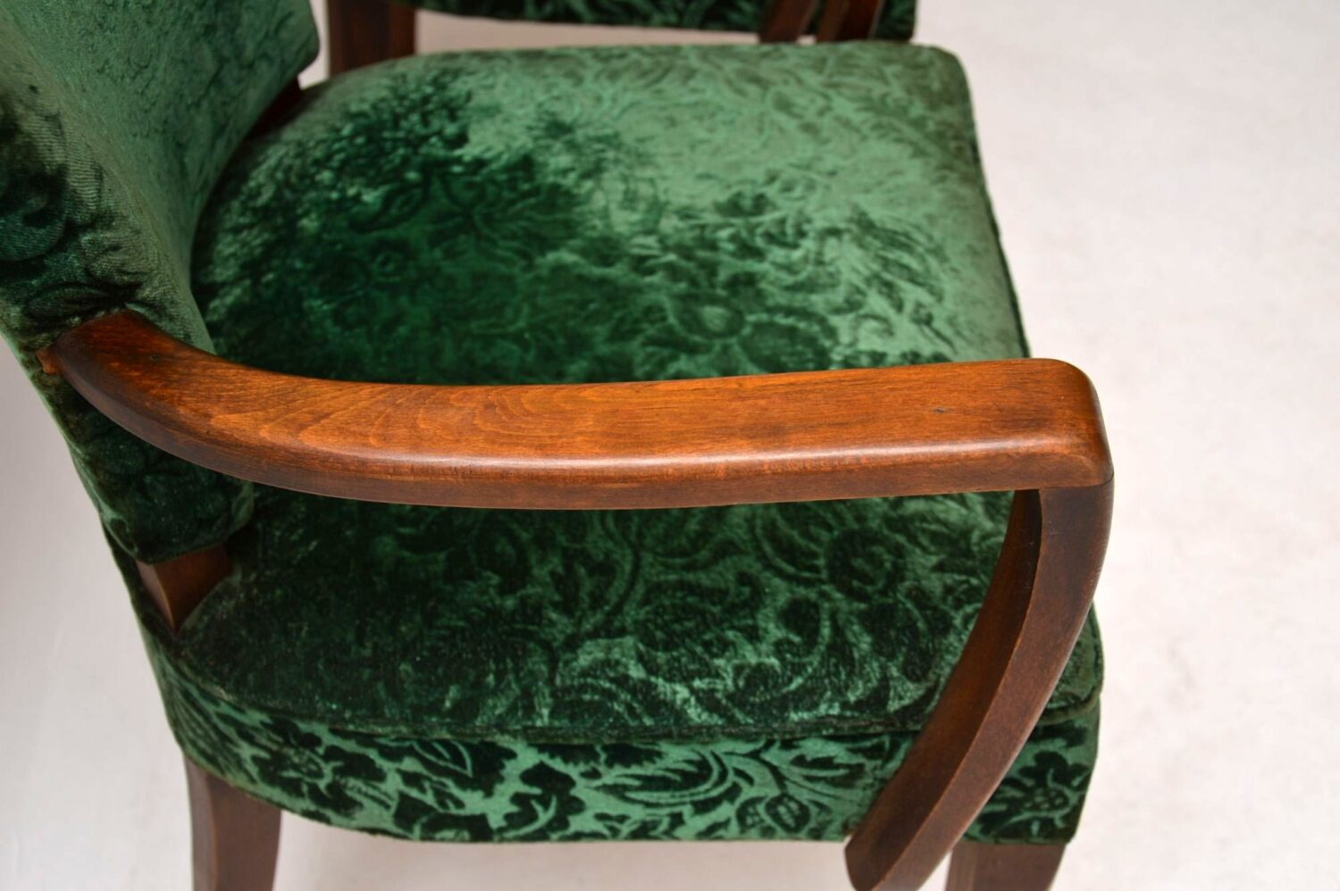 pair of art deco antique french armchairs