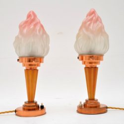 1930's Pair of Original Art Deco Table Lamps