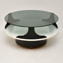 retro vintage italian glass coffee table