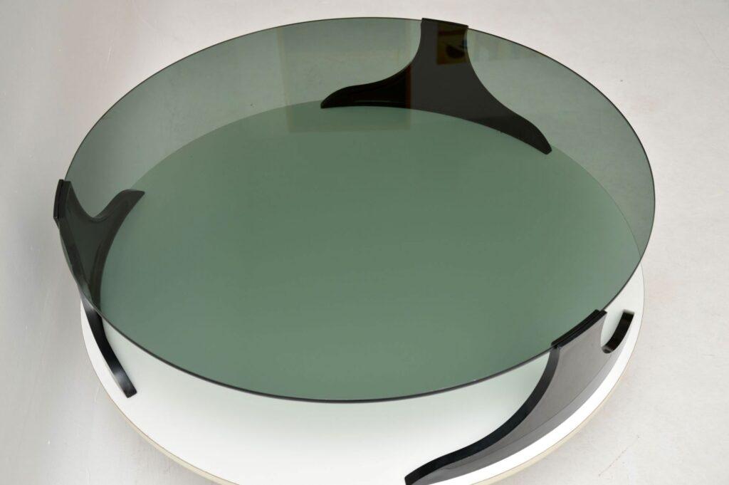 retro vintage italian glass coffee table