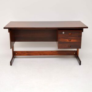 1960' Brazilian Rosewood 'Clara' Desk by Sergio Rodrigues
