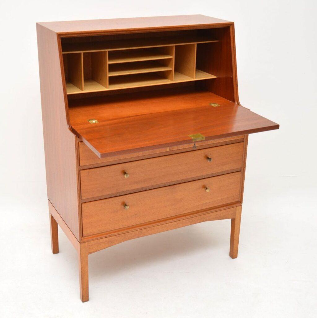 teak retro vintage danish bureau john morton lm furniture