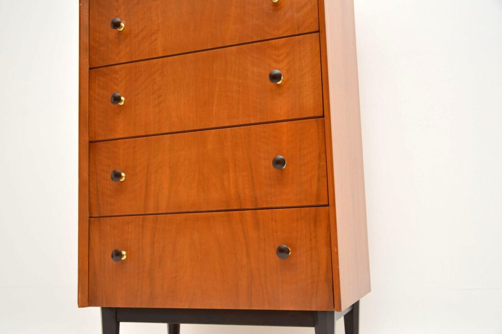 retro vintage walnut chest of drawers by g -plan