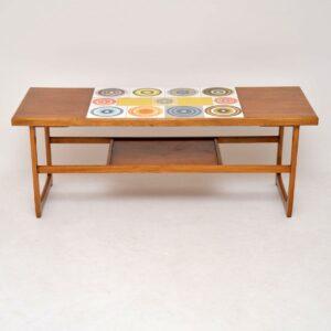 1960's Teak Tiled Vintage Coffee Table