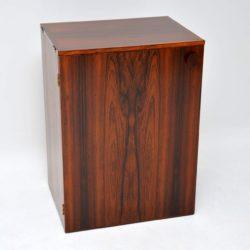 danish rosewood drinks bar cabinet erik buch dyrlund